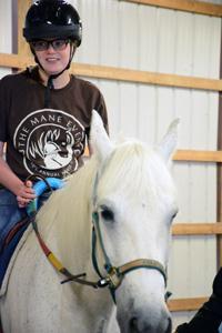 camper on horse
