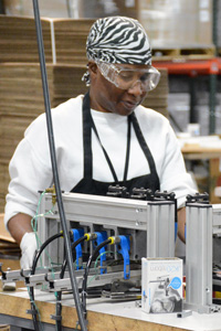 woman working at Industrial Services